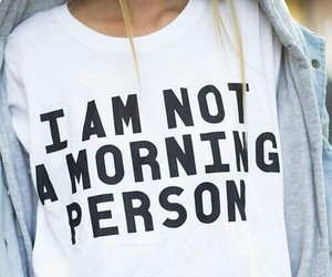 morning, person, and shirt image