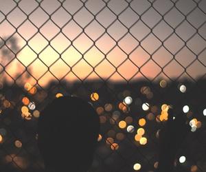 light, city, and sunset image