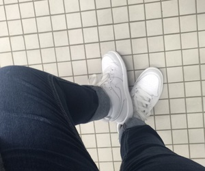 bathroom, blue jeans, and jeans image
