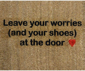 door, shoes, and text image
