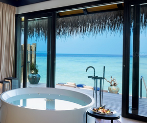 bathroom, luxury, and summer image