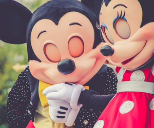 couple, disney, and mickey mouse image