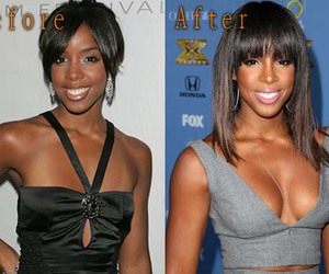 kelly rowland, boob job, and celebrity plastic surgery image