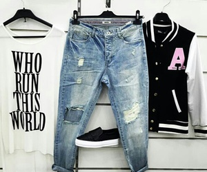 denim, shirt, and fashion image