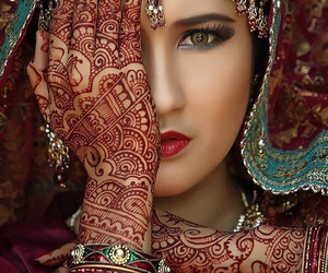 henna, woman, and indian image