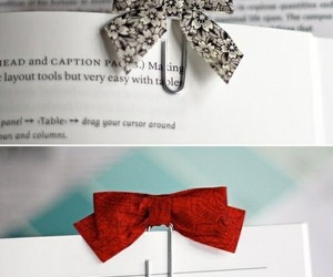bow, book, and bookmark image