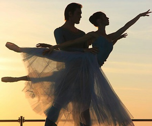 ballet, couple, and easel image