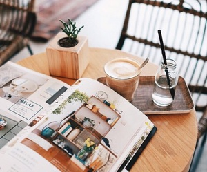 coffee, magazine, and theme image