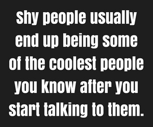 quote, shy, and people image