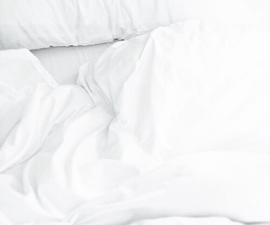 bed, minimalism, and morning image