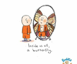 Buddha and butterfly image