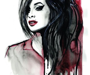 amazing, hair, and painting image