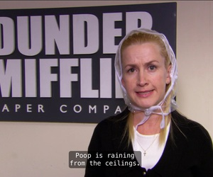 angela, bats, and the office image