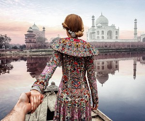 travel, india, and couple image