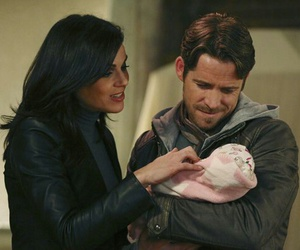 once upon a time, regina, and robin image