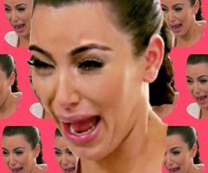 cry, funny, and kim kardashian image