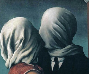 art, kiss, and rene magritte image