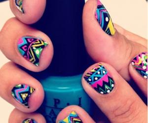 colorful, fashion, and nail polish image