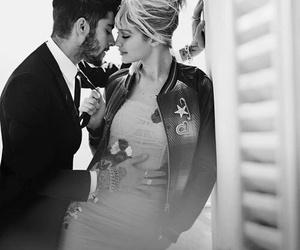 black and white, gigi hadid, and couple image