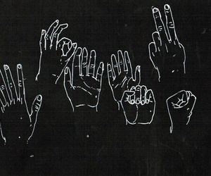 art, black, and hands image