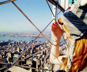 cool hair, empire state, and empire state building image