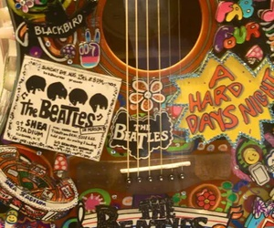 guitar, the beatles, and beatles image