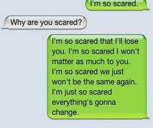 quote, scared, and text image