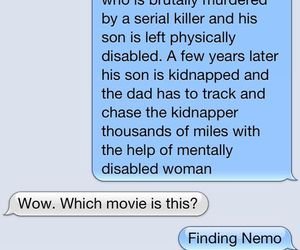 funny, movie, and finding nemo image