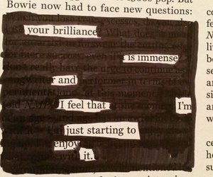 follow, inspiring, and blackout poetry image