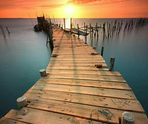 beauty, dock, and pier image