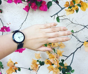 flowers, nails, and spring image