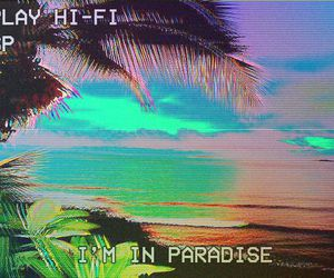 paradise, grunge, and beach image