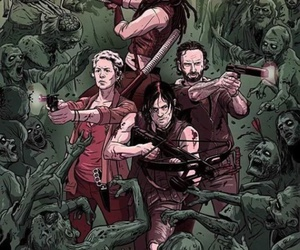 michonne, carol, and the walking dead image