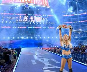 champion, wrestlemania, and women wrestling image