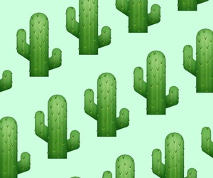 cactus, green, and wallpaper image