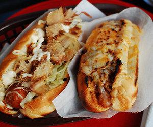 food, hot dog, and yummy image