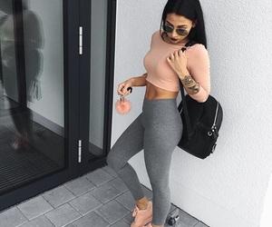 black hair, sunglasses, and fashion image