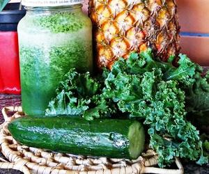 cucumber, kale, and vegan image