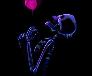 black, heart, and purple image