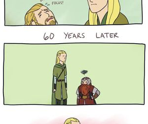 Legolas, funny, and hobbit image