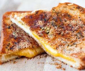 cheese, sandwich, and garlic image