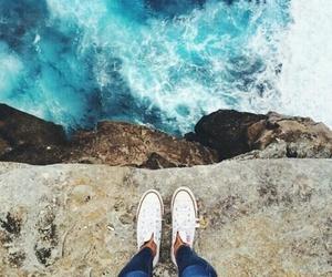sea, converse, and blue image