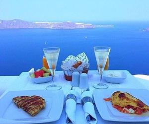 food, sea, and breakfast image