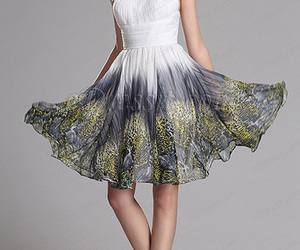 cocktail dress, white dress, and printed dress image