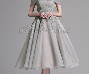 ball gown, grey dress, and edressit image
