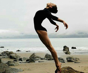 dance, beach, and ballet image