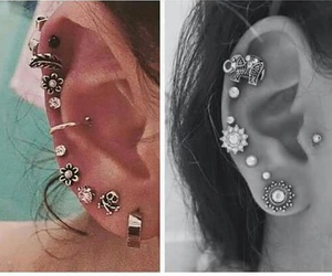 ear, earrings, and want image