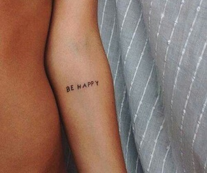 tattoo, happy, and be happy image