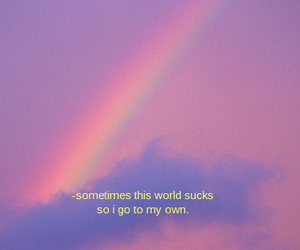 rainbow, quotes, and grunge image