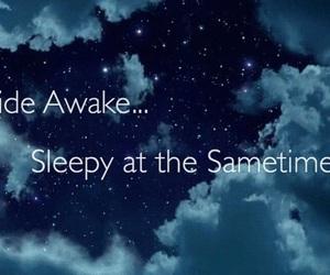 awake, bedtime, and sleepy image